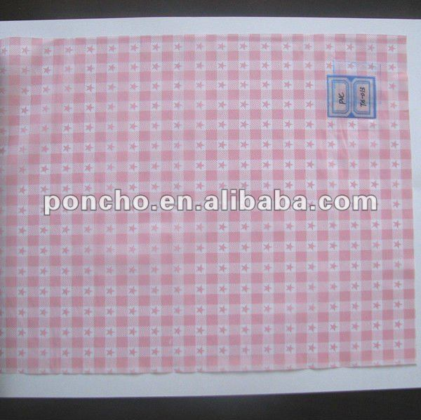 red pattern PVC stretch film