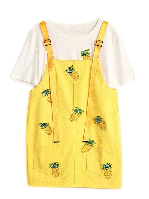 790bf15f5b Get Quotations · Season Show Girls Denim Overall Dress Cute A-line  Suspender Short Denim Dress