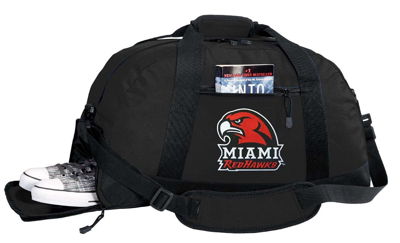 NCAA Miami University Duffel Bag - Miami RedHawks Gym Bags w/ SHOE POCKET