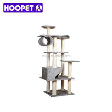 Eco friendly Large deluxe cat tree cat bed and scratching post