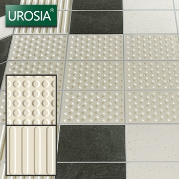 non-slip outdoor or indoor Porcelain paving stone tactile paving tile blind track ceramic tile for Metro made in china