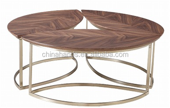 Wooden Coffee Table With Design Stainless Steel Legs Product On Alibaba