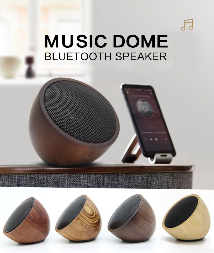 Best Portable Stereo Mobile BT Bamboo Wood Speakers For Phone