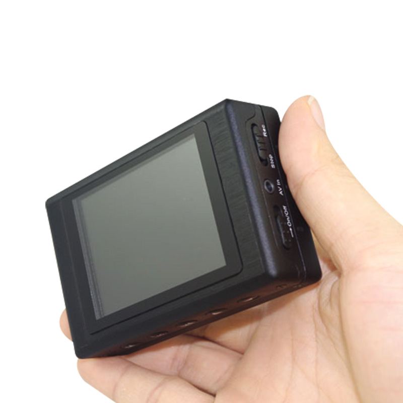 Audio y vídeo de la policía mini dvr con pantalla lcd