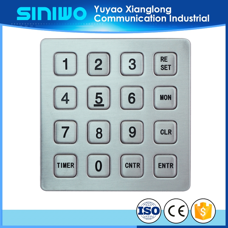 industry leaders in lead-time keypads with quick turn quality waterproof industrial keypads 4*4 keypads for access controller