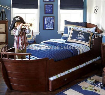 Wooden Children S Pirate Ship Beds Kids Race Boat Bed Boy