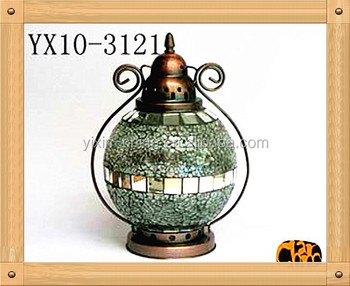 Piece Mosaic Hanging Gl Candle Lantern