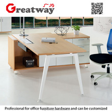 top quality executive computer table l shape steel office desk