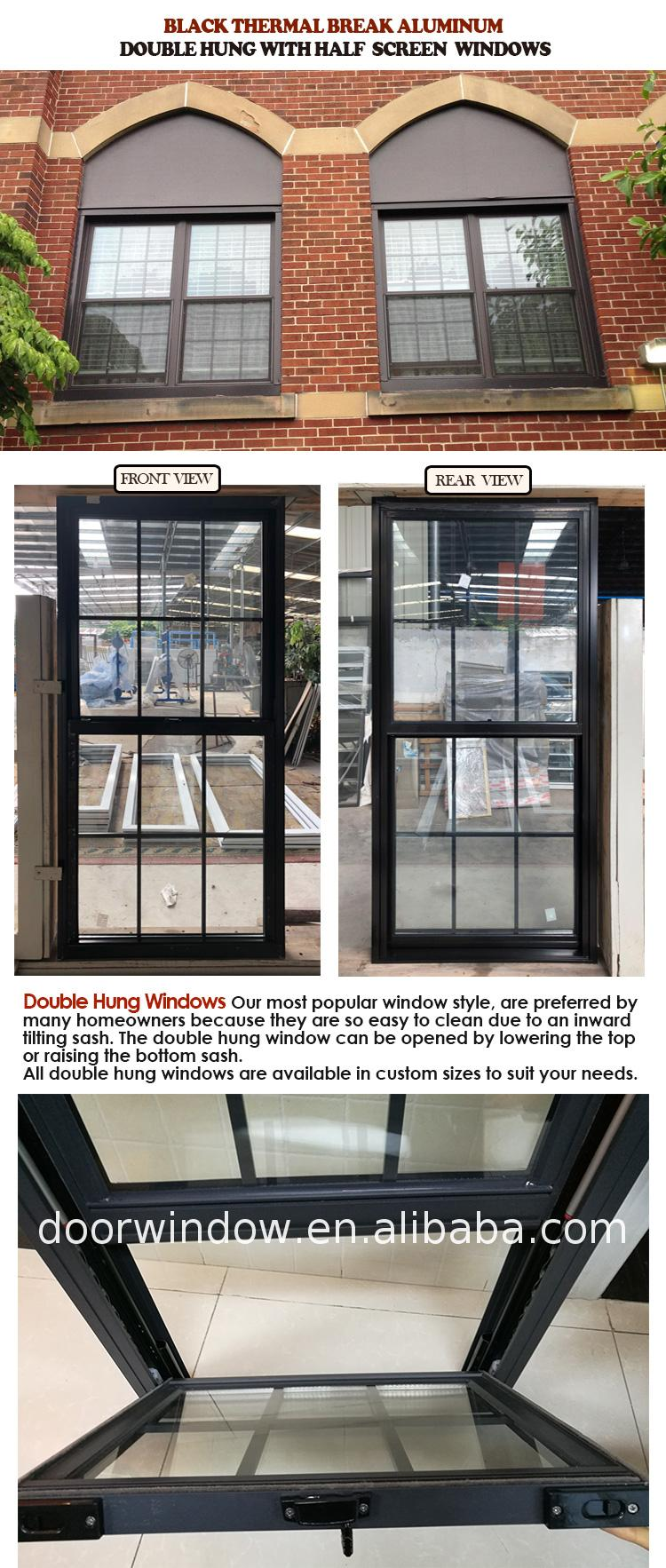 High quality aluminium double hung window