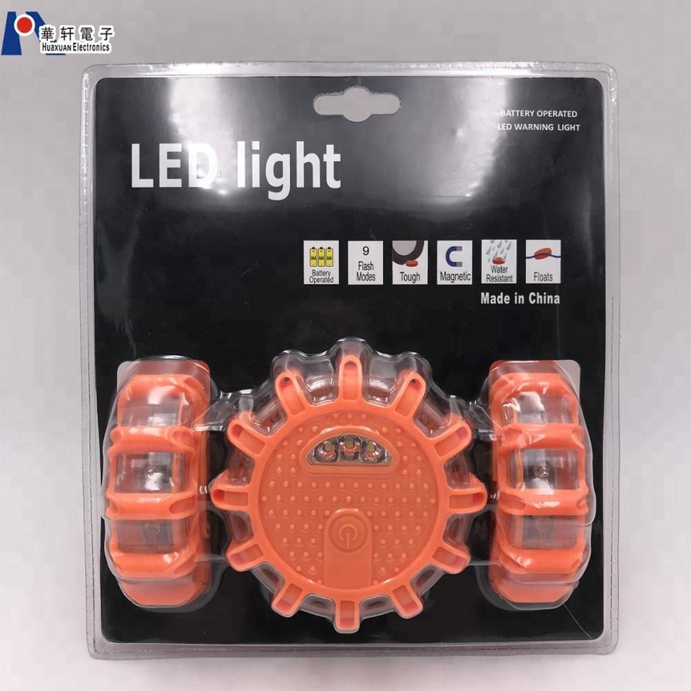 OEM Logo 3 Pacco Originale FRED Lampeggiante Emergenza Stradale Disco LED Flare