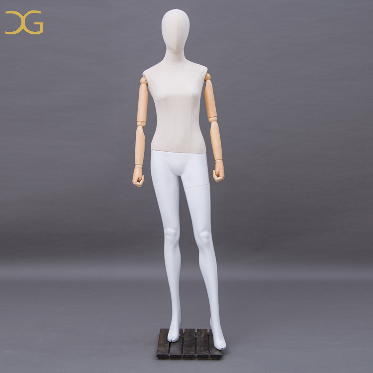 FRP standing female dress form tailoring fabric mannequin