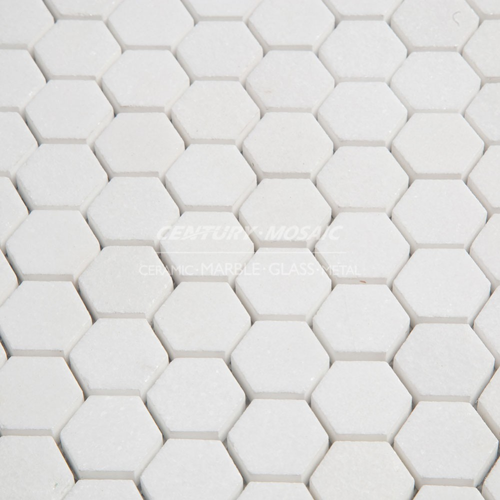 White thassos mosaic bathroom hexagon marble wall floor tile buy white thassos mosaic bathroom hexagon marble wall floor tile dailygadgetfo Gallery