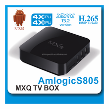 HD Quad-Core Android 4.4 TV Box MXQ,Amlogic S805,Hardward 3D Graphics Acceleration Android TV Box