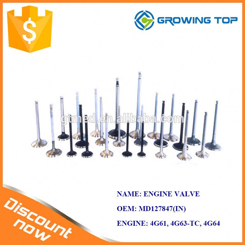 Excavator Engine Spare Parts OEM MD127847 Inlet and Exhaust Valves for Mitsubishi
