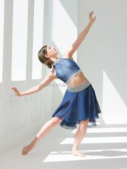 e71214c5f67f Mb201505 Teen Girl Lyrical Blue Ballet Fluffy Dance Dress Costume ...