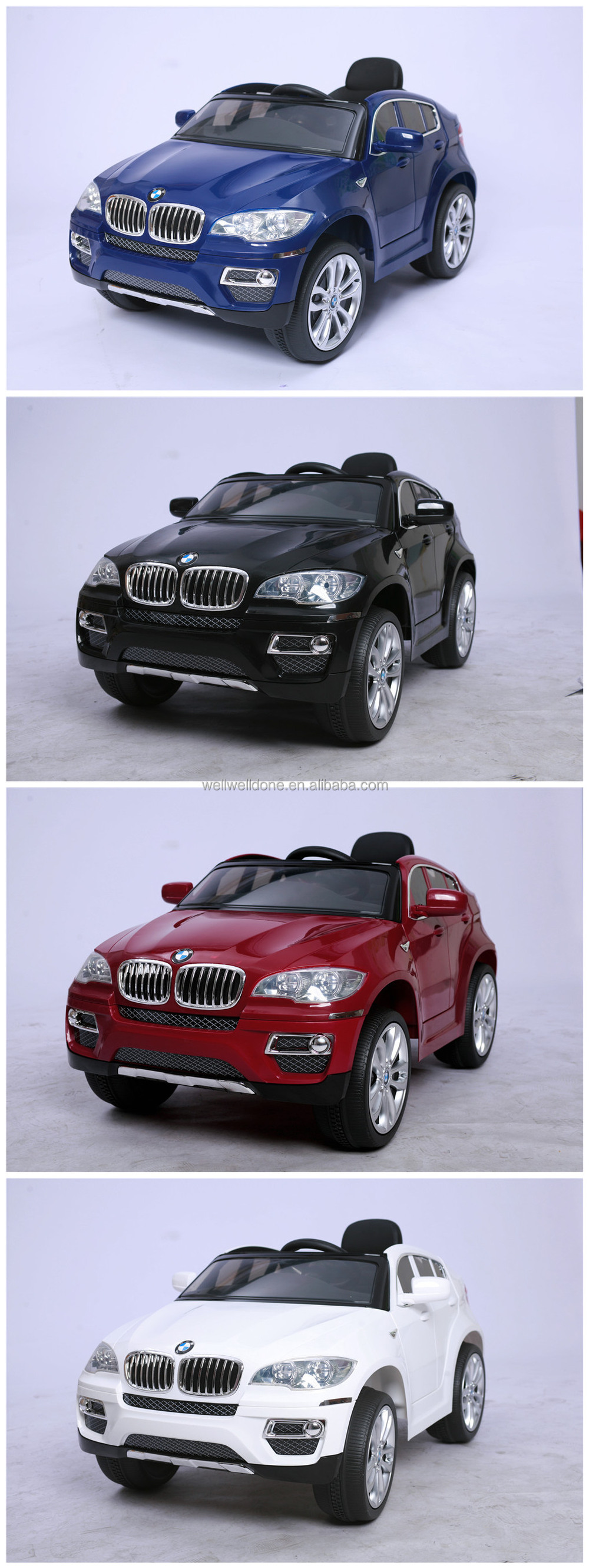 licensed car bmw x6 kids electric car with remote control baby present ride on toy