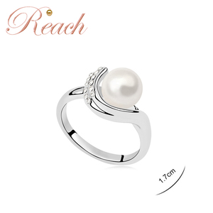 925 Sterling Silver Genuine Natural Real Pearl Ring Designs for Women
