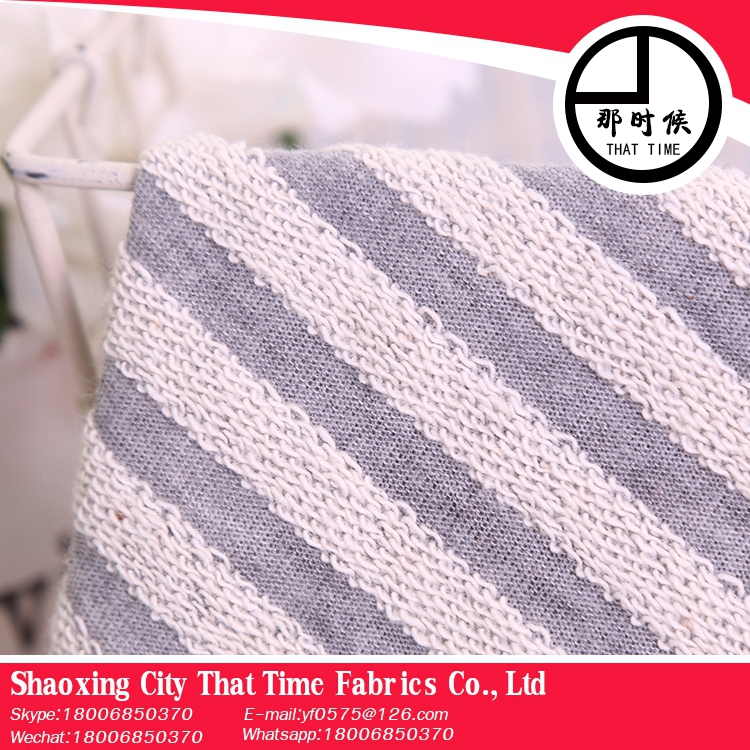 New design That Time 10 years experience hacci stripe fabric