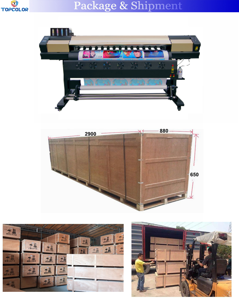 Factory wholesale 1.6m 1.8m 2.2m dx5 5113 heads vinyl sticker eco solvent printer in Malaysia CMYK eco solvent printer dx7