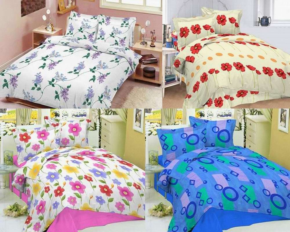 Home Textile Poly Cotton Fabric Bed Sheets Printing