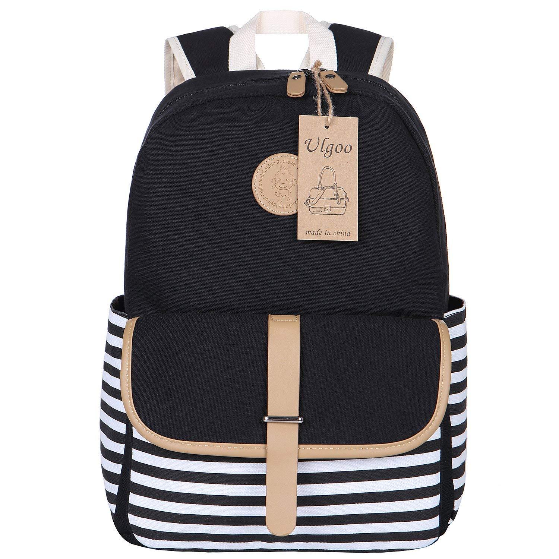 067d57da2342 Get Quotations · Ulgoo School Backpacks Travel Canvas Backpacks for Girls  School Bookbags for Teen
