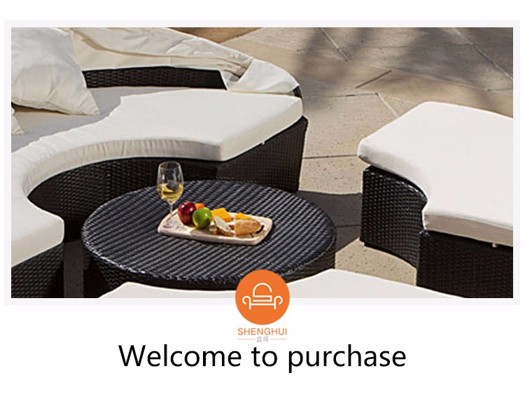 Luxury Garden Sunbed On Deck Wicker Can Replacement Cushion Covers Outdoor Furniture