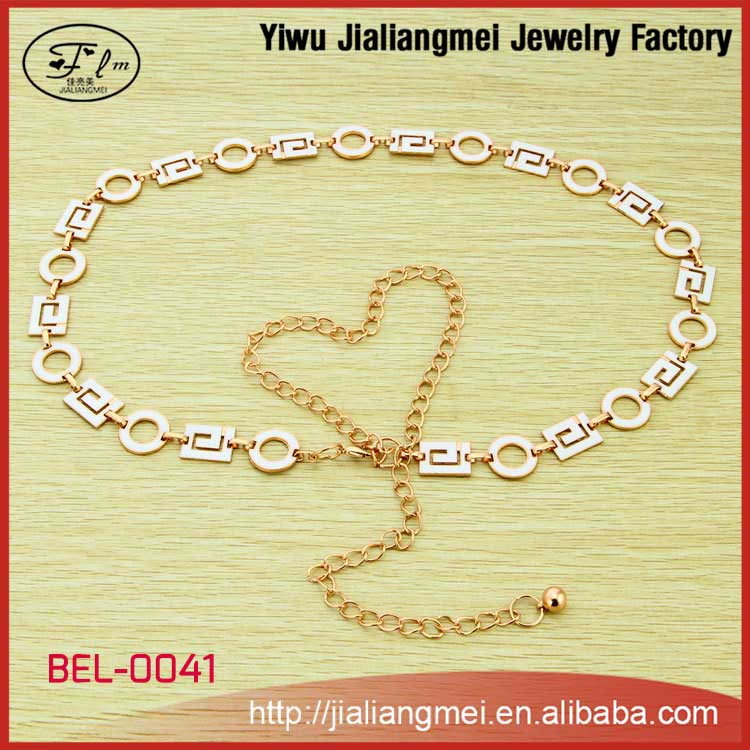 High Quality Metal Chain Belt, Gold Belly Chain, Women Waist Belts Chain