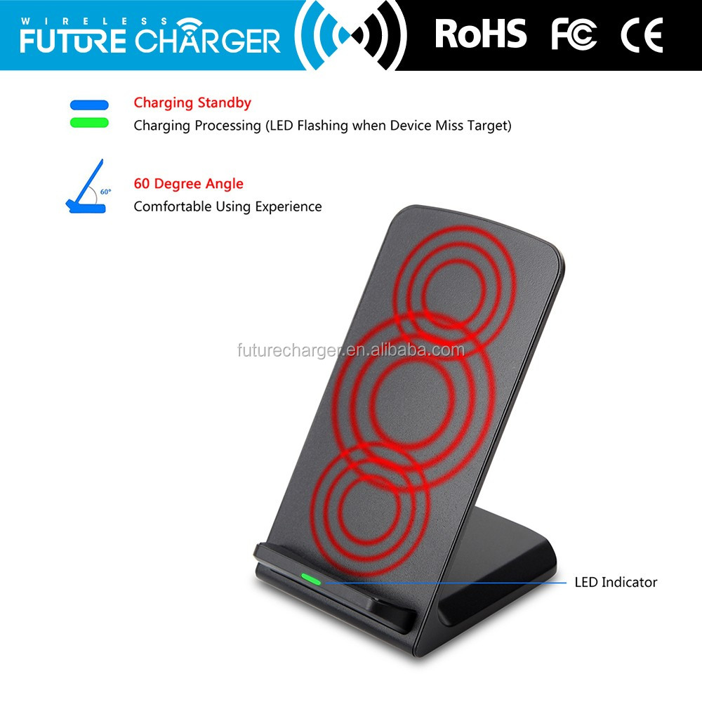 2016 Trending Fast Charge wireless black car charger stand for mobile phones,cell phone travel charger