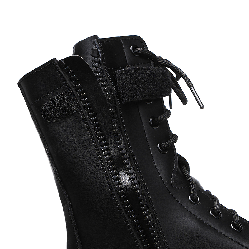 China Xinxing military amry officer black full grain leather rubber outsole goodyear boots MB04