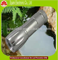 Replaceable Battery Led Flashlight Torch