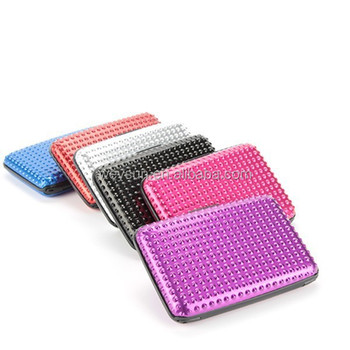 Rhinestone bling aluminium wallet as seen on tv diamante bling rhinestone bling aluminium wallet as seen on tv diamante bling aluminium credit card wallet holder colourmoves