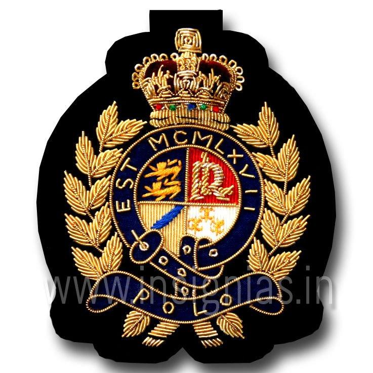 Polo Bullion Embroidery Blazer Badge Buy Sports Club Bullion