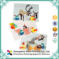 Alibaba custom full colors printing new design high quality christmas greeting card