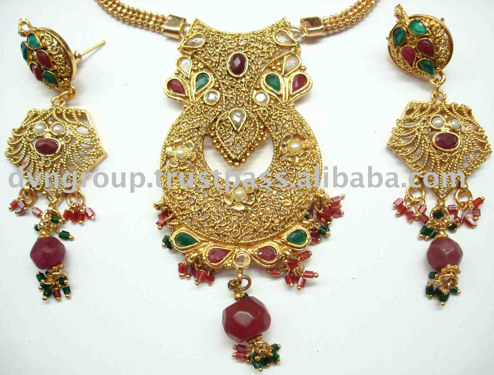 gold kundan diamond atlanta online set pendant in p jewelry american and islamic indian