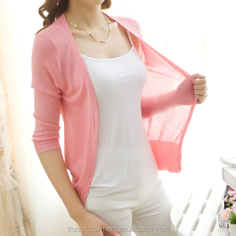 Spring summer young fashion cardigan women knitwear