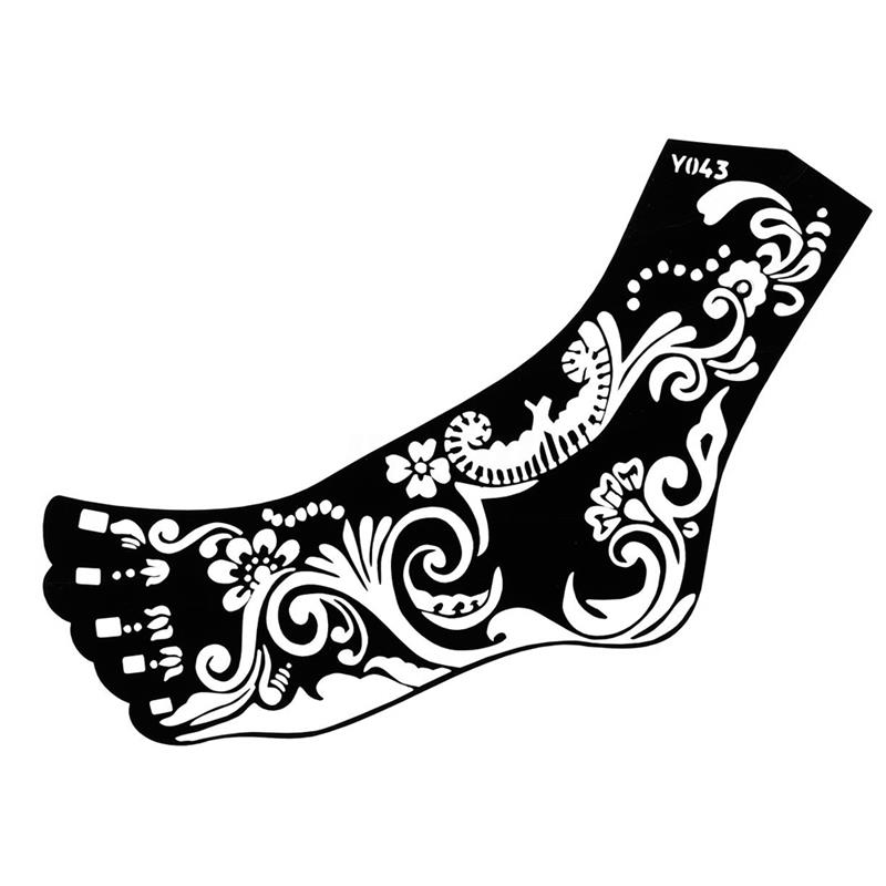 Stencils customized logo black lace style henna tattoo sticker