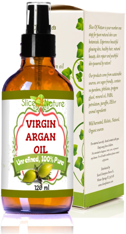 Slice Of Nature Argan Oil Pure Virgin Cold Pressed Argan Oil for Hair, Face, Body 100 ml