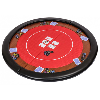 48 Inch 2 Fold Round Poker Table Top