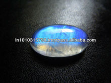 AAA Grade Smooth Oval Cabochon Loose Gemstone Rainbow Blue Moonstone