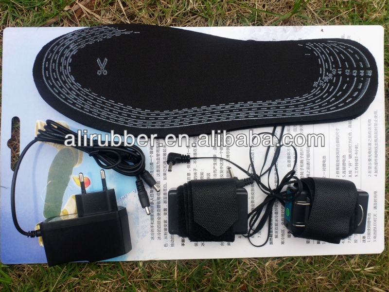 Foot Warmer Battery Rechargeable Heating Sole Insole