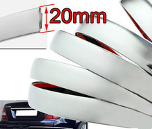 Top Sell 1m X 20mm PCS MOULDING Chrome Trim  Car Decoration Decorative Strip Interior Exterior  Style Chrome Silver