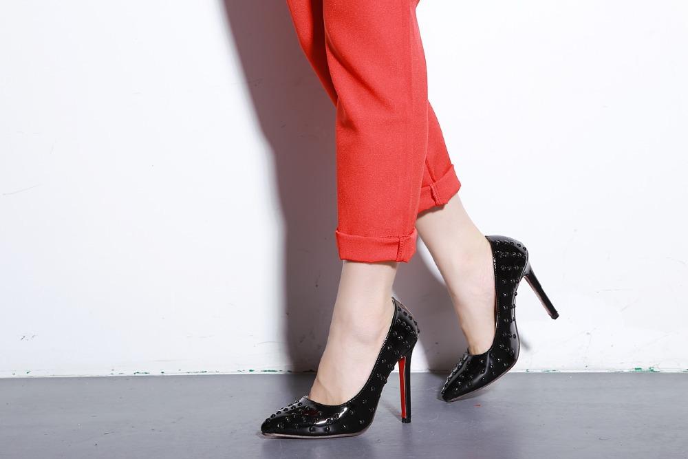f98ffb5d93c Get Quotations · 2015 ladies fashion Rhinestone high heels sexy wedding tpo  quality women shoes plus size 35-