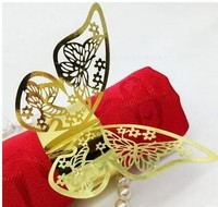 Butterfly Design Table Paper Napkin Rings For Wedding Party Decoration