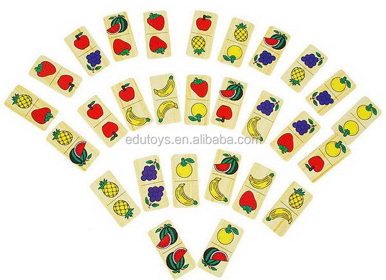 Wooden Fruit Domino Game Set Buy Wooden Domino Wooden Domino Game Domino Set Product On