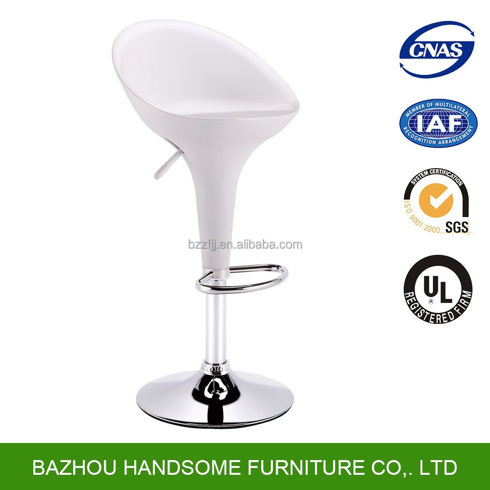 Wholesale modern High Quality Colorful ABS Plasti swivel bar stool high chair