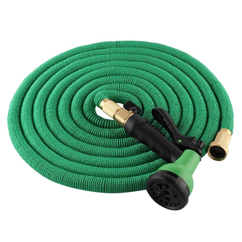 ADSRO 75ft Garden Hose, Expandable Water Pipe Multi-Function Spray Nozzle Family, Garden, Shower Pet or Car Wash size 75FT (Green)