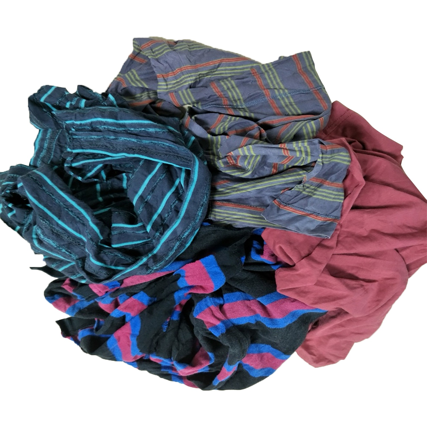 10kg bale of textile waste cotton rags for oil absorbent cloth