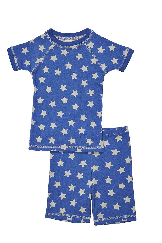 Brian the Pekingese Boys 100% Organic Cotton Short Sleeve & Shorts Pajamas
