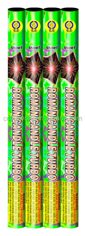 6 shots display roman candle fireworks