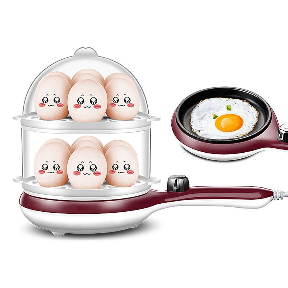 3 In 1 Multi-Function Electric Egg Cooker,Up To 14 Eggs Boiler Steamer Fry Double Layer Cooking Tools Kitchen Utensils